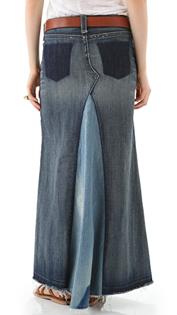 True Religion Dakota Denim Maxi Skirt