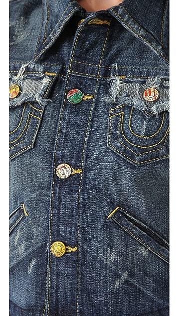 True Religion Jada Love & Haight Cropped Jacket