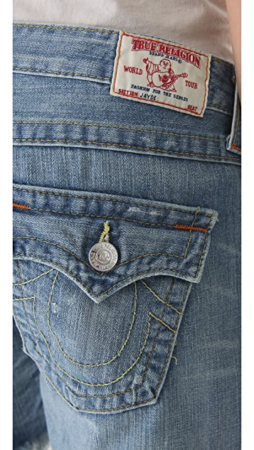 True Religion Jayde Midrise Boyfriend Shorts
