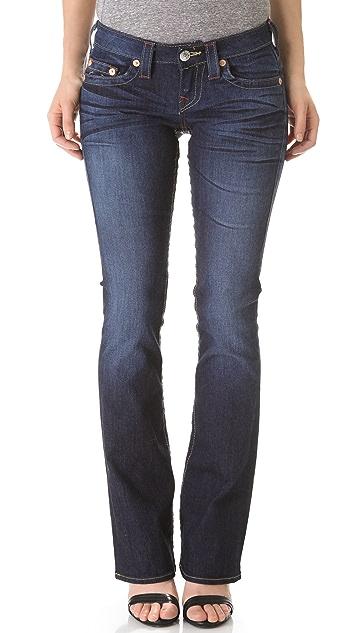 True Religion Tony Slim Microboot Jeans