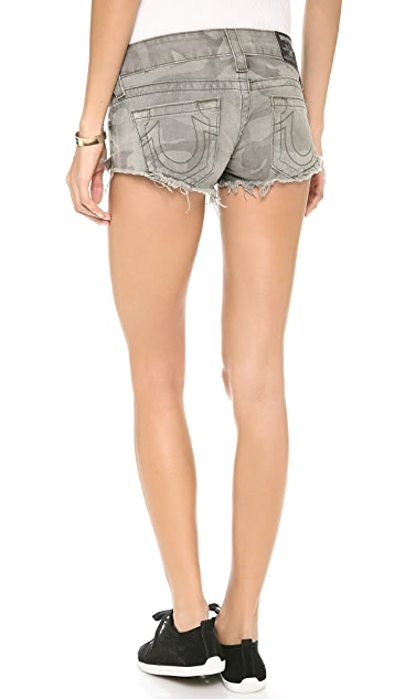 True Religion Camo Bobby Shorts