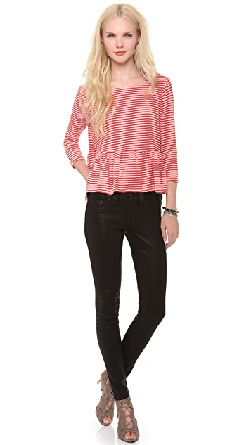 True Religion Halle Coated Skinny Jeans