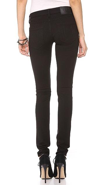 True Religion Chrissy Mid Rise Super Skinny Pants