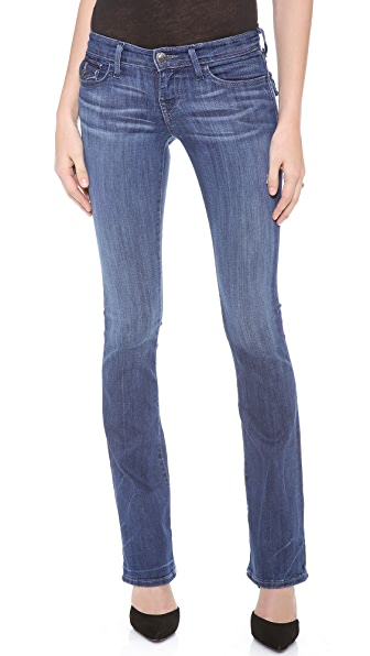 True Religion Becky Mid Rise Boot Cut Jeans