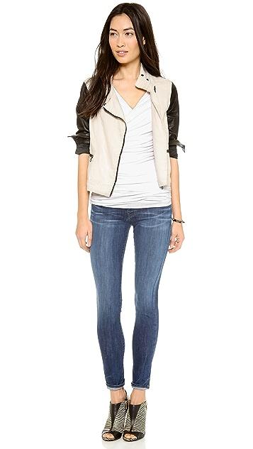 True Religion Casey Mid Rise Super Skinny Jeans