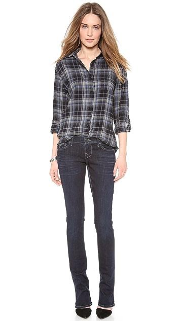 True Religion Lexy Low Rise Mini Boot Cut Jeans