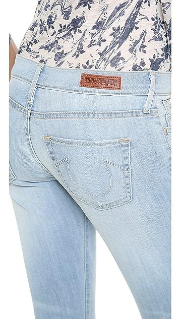 True Religion Leona Rolled Crop Skinny Jeans