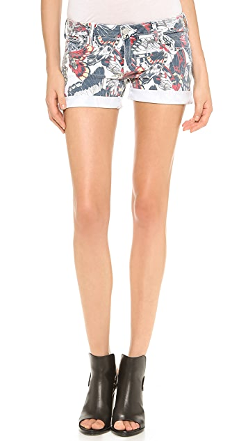 True Religion Cassie Low Rise Rolled Shorts