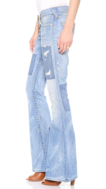 True Religion Carrie Patchwork Flare Jeans