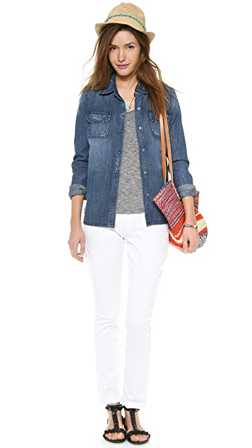 True Religion Audrey Cropped Boyfriend Jeans
