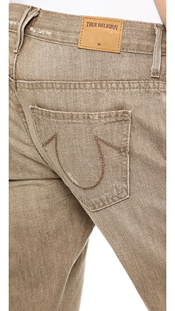 True Religion Audrey Boyfriend Rolled Jeans