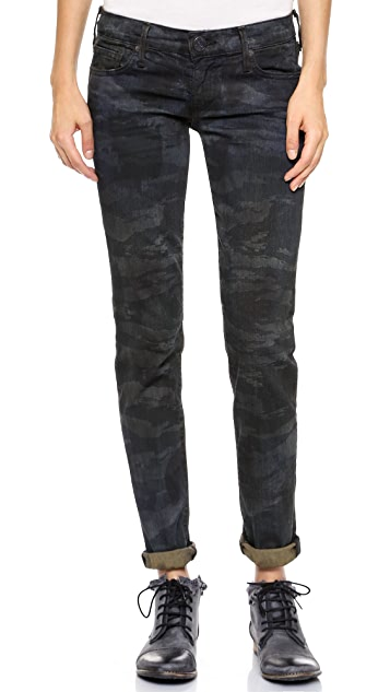 True Religion Casey Low Rise Super Skinny Camo Jeans