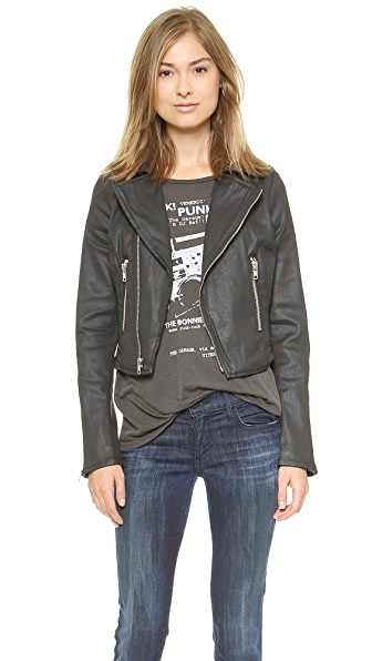 True Religion Moto Coated Jacket
