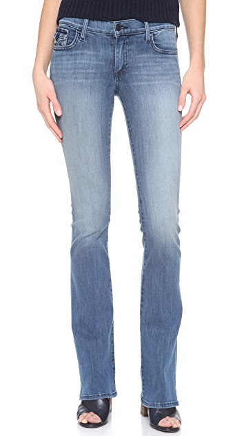 True Religion The Becca Mid Rise Boot Cut Jeans