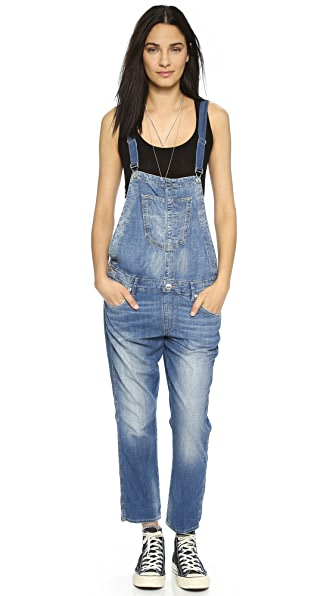 True Religion Katie Cropped Overalls