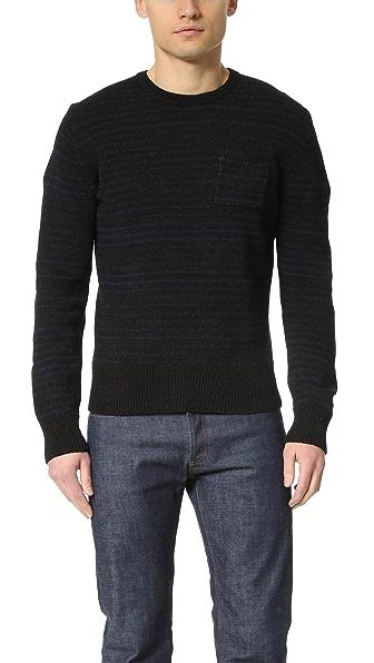 Todd Snyder Stripe Pocket Crew Sweater