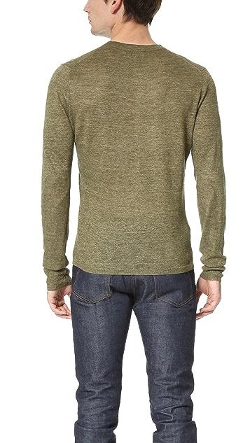 Todd Snyder Linen Melange Henley Sweater