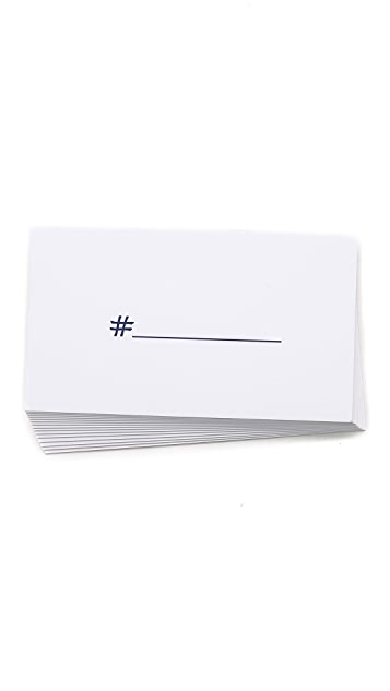 Terrapin Stationers Hashtag Calling Cards