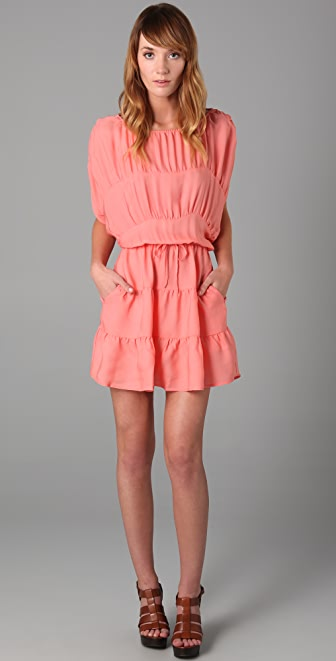Tucker Panel Mini Dress