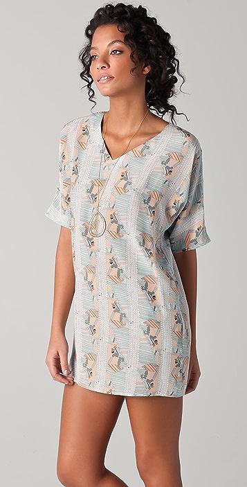 Tucker V Neck Pocket Dress