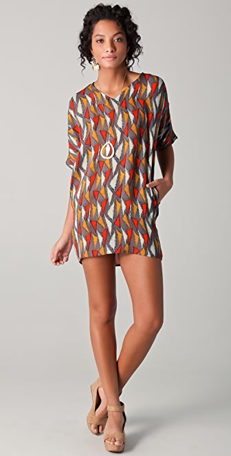 Tucker V Neck Pocket Dress