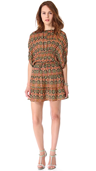 Tucker Gathered Panel Mini Dress