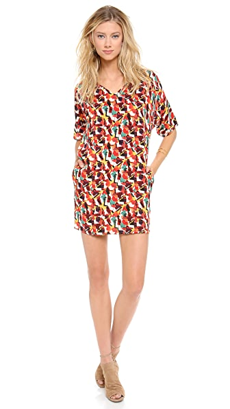 Tucker V Neck Tunic Dress