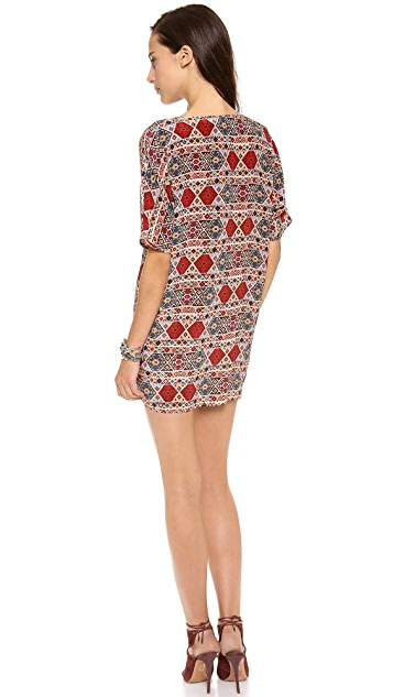 Tucker V Neck Tunic Dress with Pockets