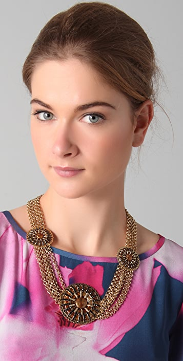 Tuleste Circle Pendant & Chain Necklace