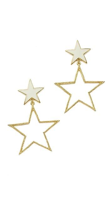 Tuleste Double Star Earrings