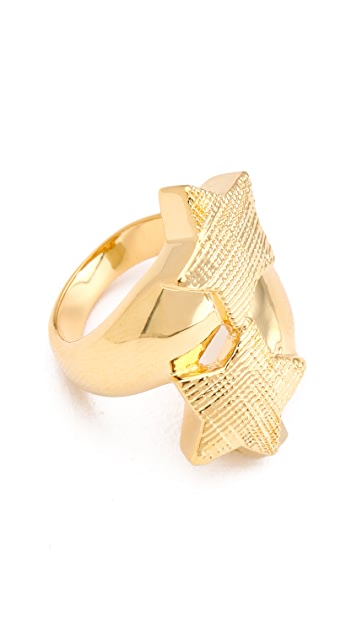 Tuleste Double Star Ring