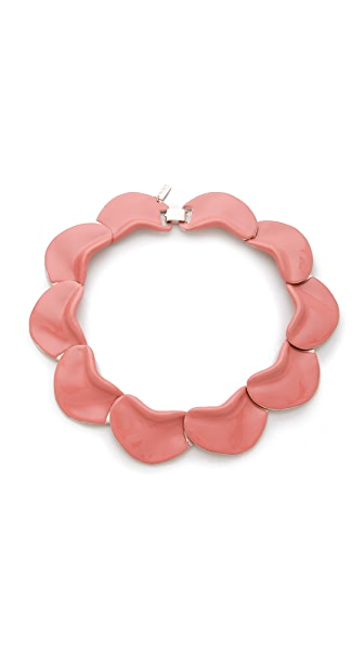 Tuleste Enamel Petals Necklace
