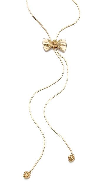 Tuleste Large Bow Lariat Necklace
