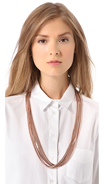 Tuleste Multi Strand Long Necklace