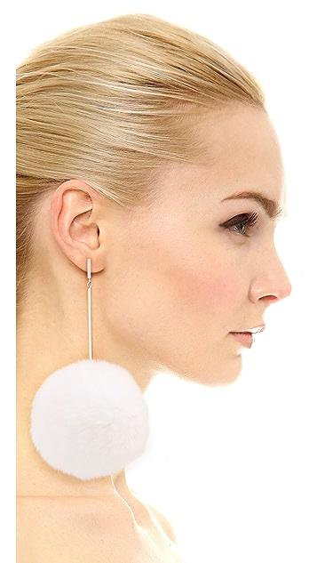 Tuleste Oversized Fur Pom Pom Earrings