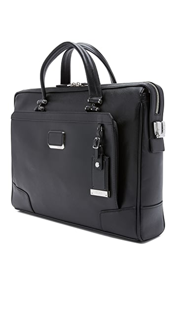 Tumi Astor Regis Slim Zip Top Briefcase