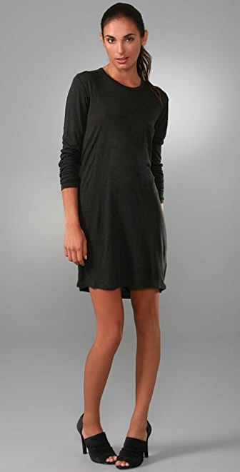 T by Alexander Wang Classic Long Sleeve Dress