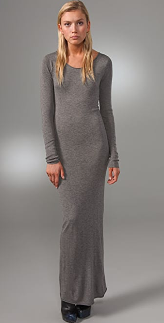 T by Alexander Wang Fitted Long Sleeve Maxi Dress | SHOPBOP