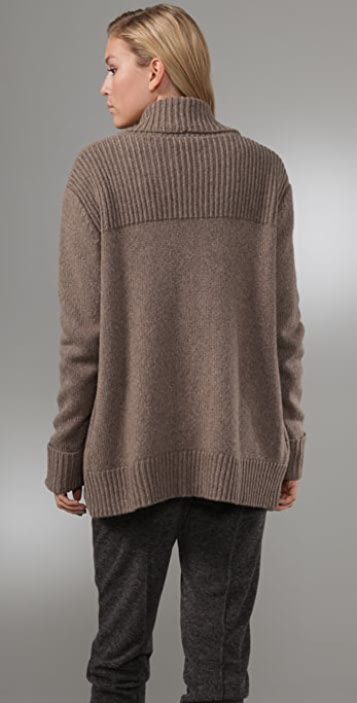 T by Alexander Wang Grandpa Cardigan with Draped Front