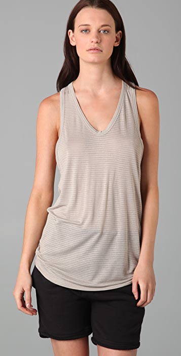 T by Alexander Wang Striped Classic Tank