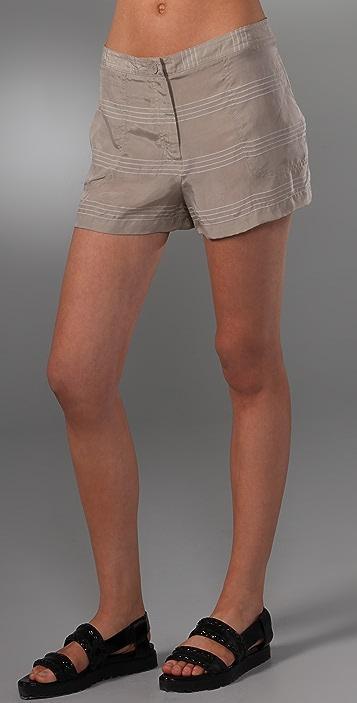 T by Alexander Wang Dobby Stripe Shorts