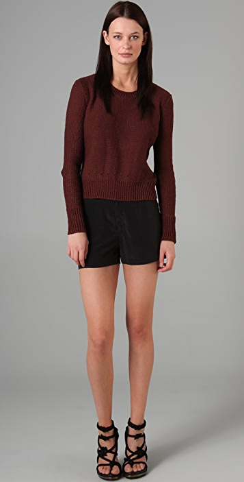 T by Alexander Wang Crew Neck Pullover Sweater
