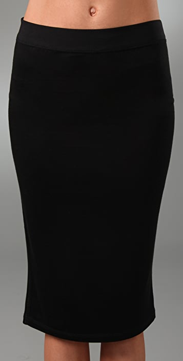 T by Alexander Wang Skinny Over the Knee Skirt