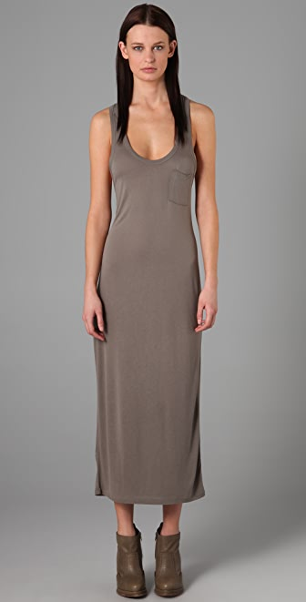 T by Alexander Wang Classic Long Tank Dress with Pocket  SHOPBOP