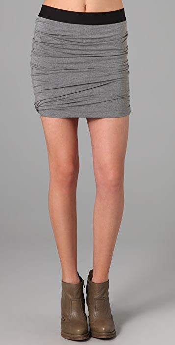 T by Alexander Wang Ruched Skirt