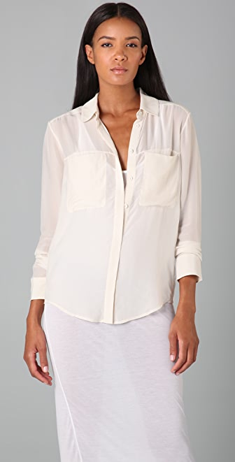 T by Alexander Wang Long Sleeve Blouse