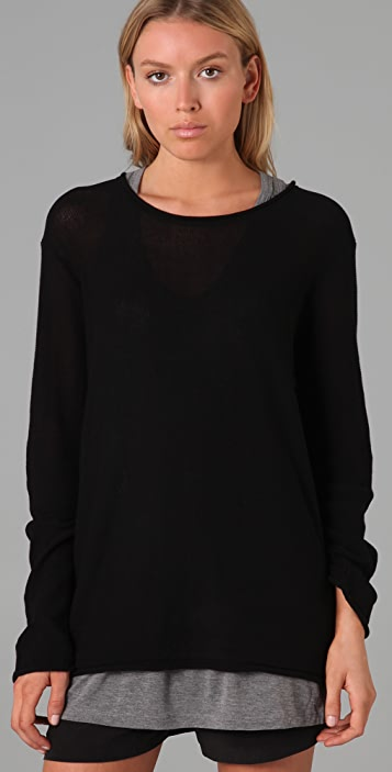 T by Alexander Wang Loose Knit Pullover