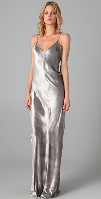 T by Alexander Wang Panne Velvet Long Dress
