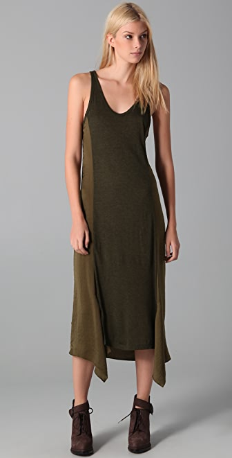 T by Alexander Wang Satin Midi Tank Dress