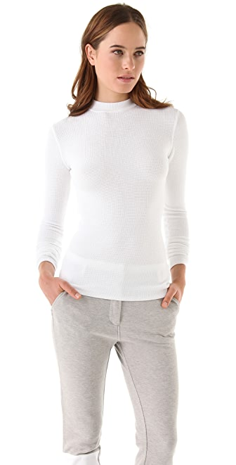 T by Alexander Wang Mock Neck Thermal Top